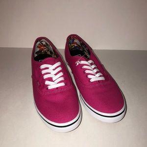 Vans Hot Pink lace up